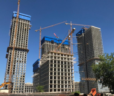 Wow! Take a look at the Prime Park towers reaching their full height